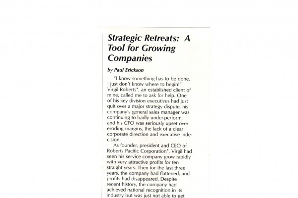 Strategic Retreats